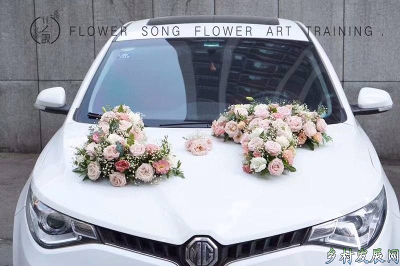 婚车预定免费送胸花,手腕花